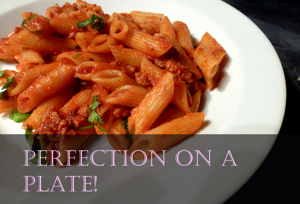 Gorgeous sausage & tomato pasta