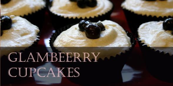 Glamberry cupcakes