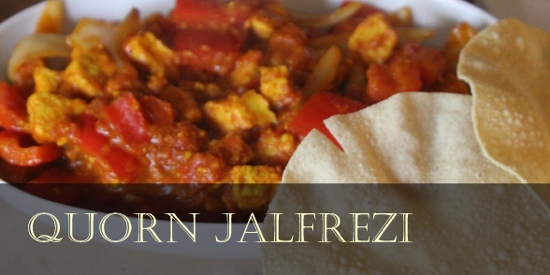 Low fat curry recipe: quorn jalfrezi