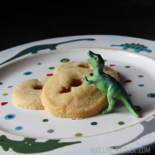 Cheesy parmesan dinosaur biscuits